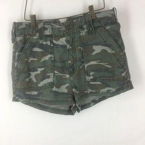 Free People Shorts - Free people  shorts camouflage high waisted size 8
